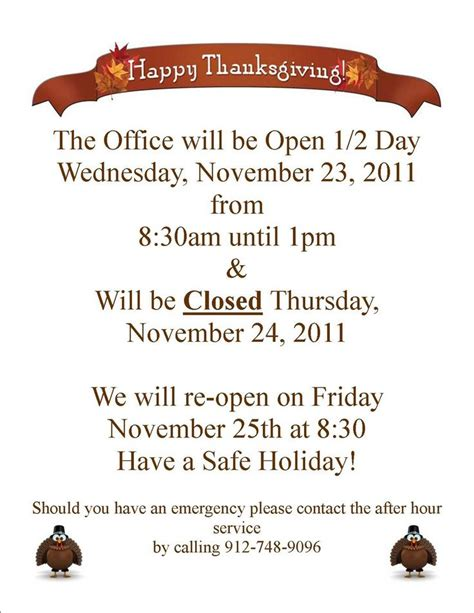 office will be closed sign template closed for thanksgiving sign templates happy easter