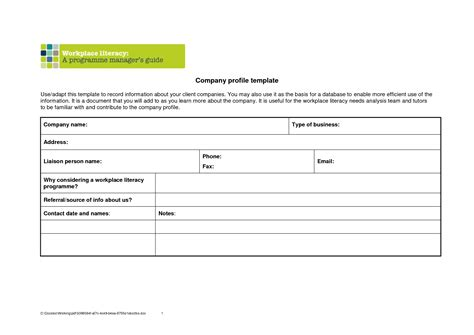 Company Profile Template