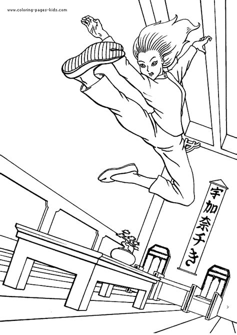 karate coloring pages   print