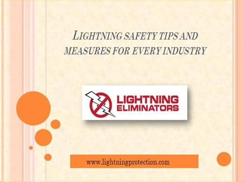 lightning safety tips and measures for every industry authorstream