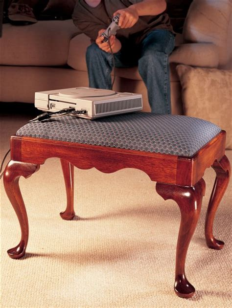 queen anne footstool cabriole leg popular woodworking