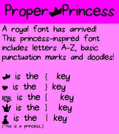 What Is The Proper Font To Use For A Resume by Proper Princess Font Dafont