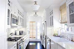 Awesome white galley kitchen design ideas for your