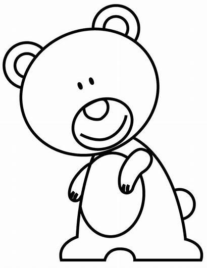 Coloring Funny Ourson Bear Mignon Coloriage Visage