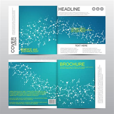 molecular templates stock square brochure template with molecular structure geometric abstract background medicine
