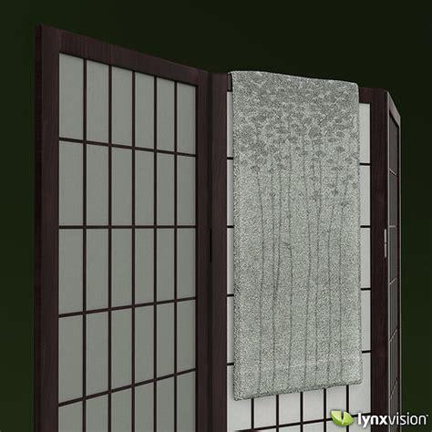 shoji rice paper screen  towel  model max obj fbx