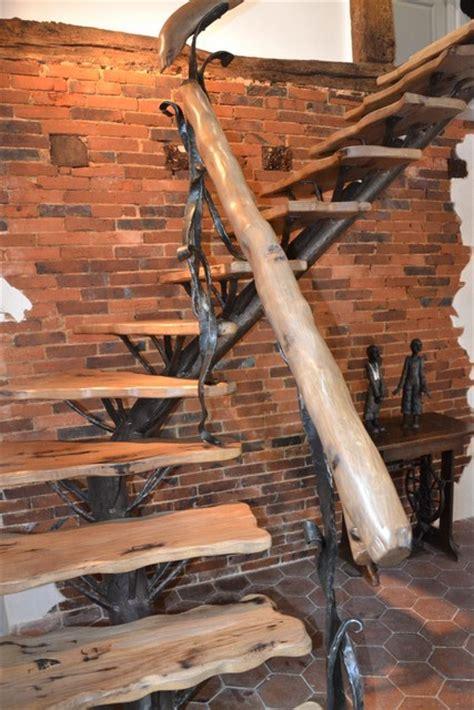 escalier fer forg 233 et bois le val 233 gant cr 233 ation