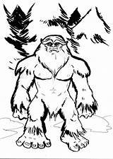 Bigfoot Sasquatch Drawing Cartoon Yeti Finding Draw Foot Coloring Drawings Mothman Cryptozoology Monsters Pages Myths Awesome Yowie Creature Visit Getdrawings sketch template