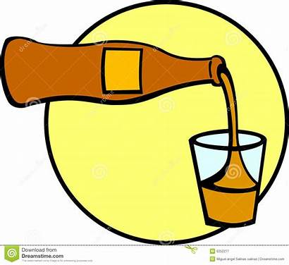 Soda Pouring Drink Soft Glass Bevanda Versamento