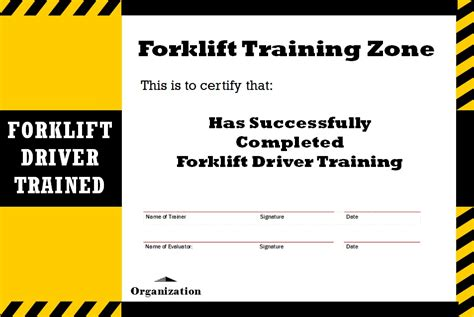 You have a good to news to hear from you. Certificate Templates: Osha Forklift Training Certificate Template