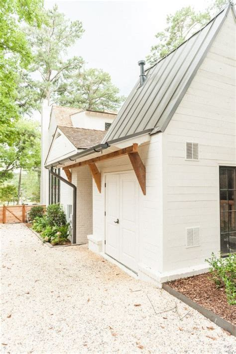 White Firewood Shed by Dull To Dazzling A House Transformed Modern Farmhouse