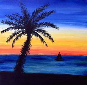 Easy Landscape Paintings Easy Beach Sunset Paintings ...