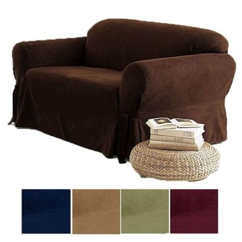 Black Loveseat Cover by 2 Pc Soft Micro Suede Sofa Loveseat Slip Cover Brown