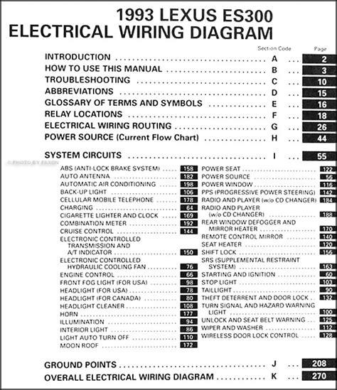 auto repair manual online 1993 lexus es head up display 1993 lexus es 300 wiring diagram manual original