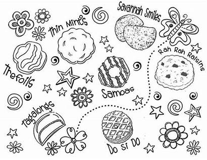 Scout Cookie Coloring Pages Printable Cookies Sheets