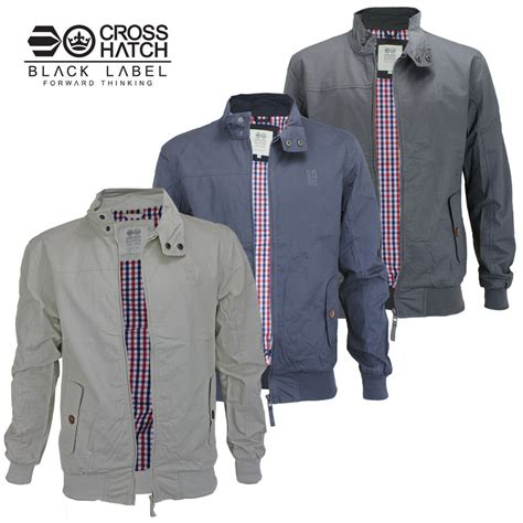 mens light jacket mens crosshatch lightweight retro summer cotton harrington