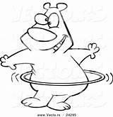 Hula Coloring Hoop Cartoon Drawing Vector Hooping Outline Bear Getcolorings Pages Getdrawings sketch template