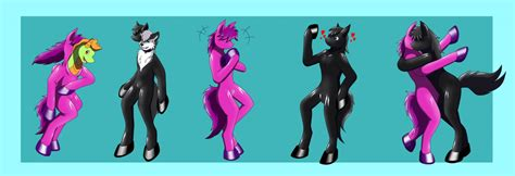 Latex Horse Living Suit Alternate Color Extra Panel By