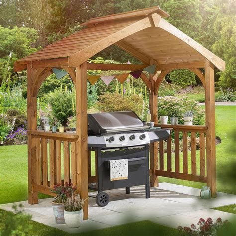 anchor fast pine wood bbq grilling pavilion costco uk