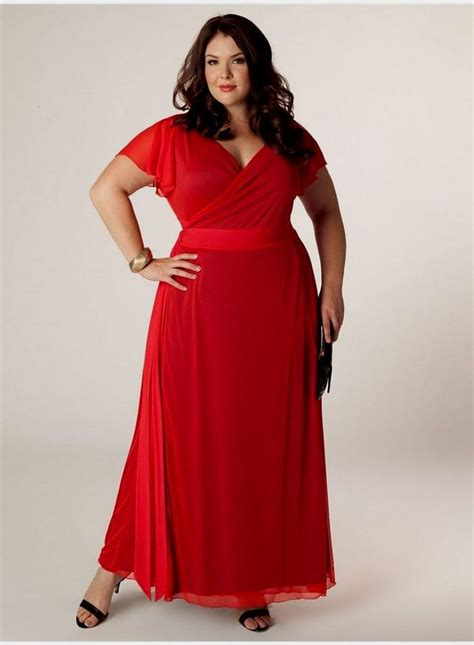 HD wallpapers red plus size dresses with sleeves