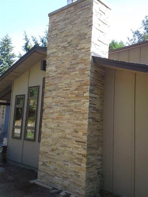 portland fireplace and chimney veneer on exterior of fireplace chimney from ground
