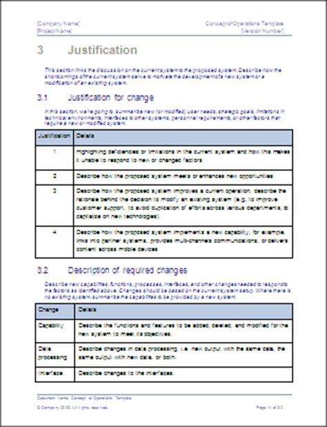 conops template concept of operations template technical writing tips