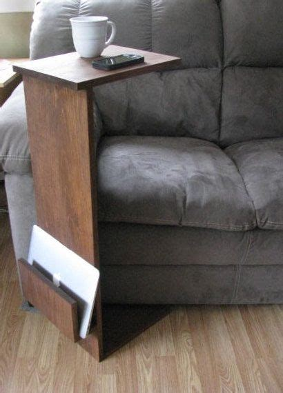 Armchair Side Table by Sofa Chair Arm Rest Tv Tray Table Stand With Side Storage