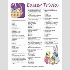 Easter Trivia Game  Printable Games