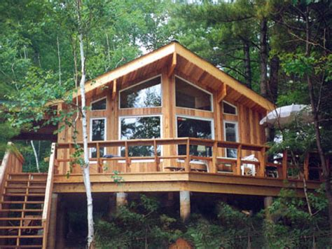woodworking cabin plans post  beam