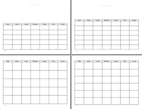 printable undated calendars blank monthly calendar