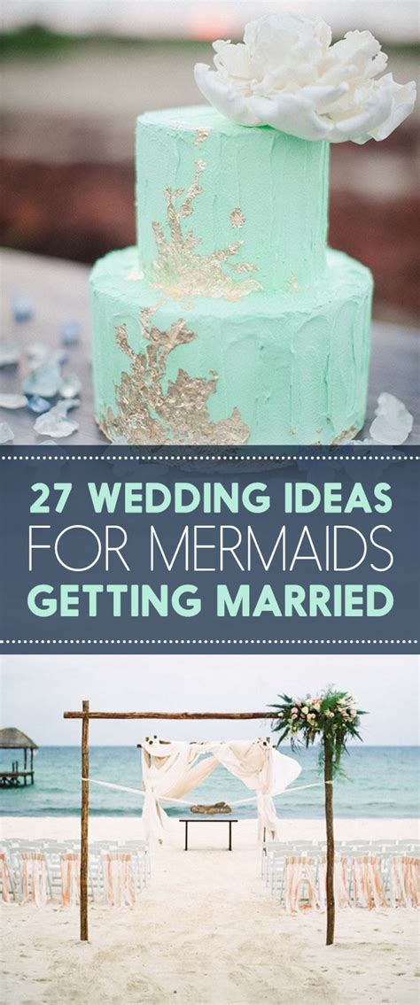 27 wedding ideas for mermaids getting married