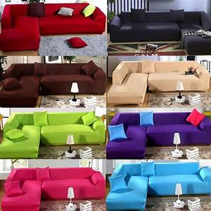 2017 hot l shape stretch elastic fabric sofa cover for Universal sectional sofa slipcovers