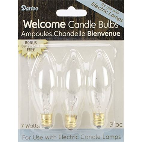 electric candle bulb 7 watt 6 count 2 pack of 3