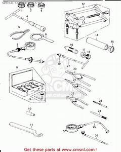 Kawasaki Kz650b1 1977 Usa Canada    Mph Kph Special Service Tools  U0026quot A U0026quot