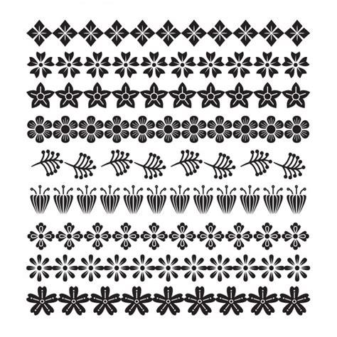 decoratie rand decoratieve bloemen randen instellen vector gratis download