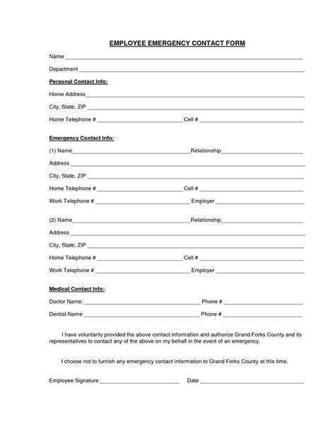 download a free emergency contact form and emergency card