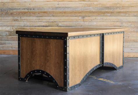 vintage industrial desk l chairman desk vintage industrial furniture
