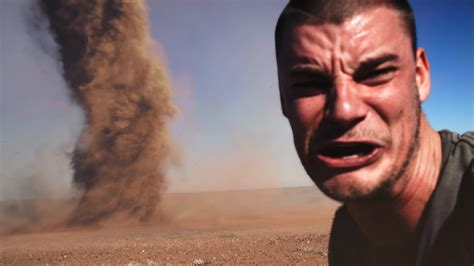 picture at selfie crazy guy runs into outback tornado to take selfie youtube