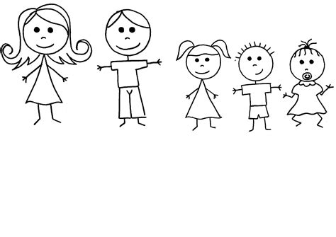 Free Stick Figure Family Of 4, Download Free Clip Art
