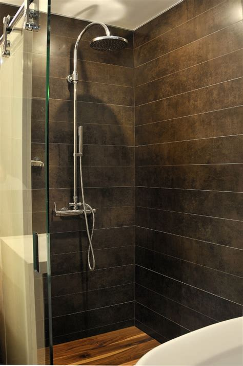 the spa look of this space is the shower floor