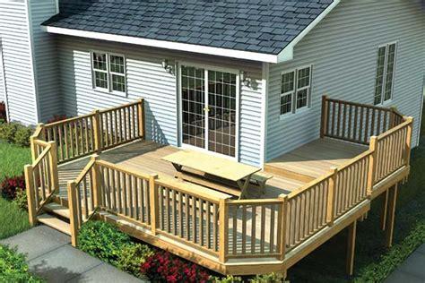 multi level deck  angle corners plan