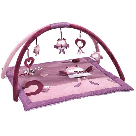 mam zelle bou tapis d 233 veil violet de sauthon baby d 233 co tapis d 233 veil aubert
