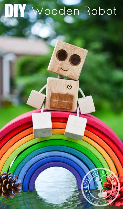 diy wooden robot buddy easy project  kids