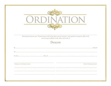 deacon ordination certificate ordination christian