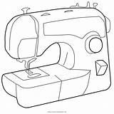 Cucire Macchina Sewing Machine Coloring Colorare Disegni Template Templates sketch template