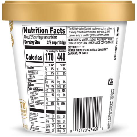 I purchased a box of haagen daz bars at the eden prairie costco and noticed that some of the bars had ice cream with a mealy texture. 34 Haagen Dazs Nutrition Label - Labels For Your Ideas