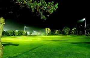 Intelligent led lighting is applied in landscape