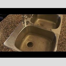 Clogged Drain  How To Unclog A Clogged Kitchen Sink Easy