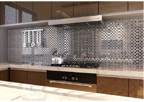 Mirrored Mosaic Tile Backsplash : Pločice Za Kuhinju