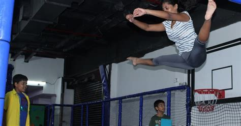 smaaash launches hyderabads biggest trampoline park